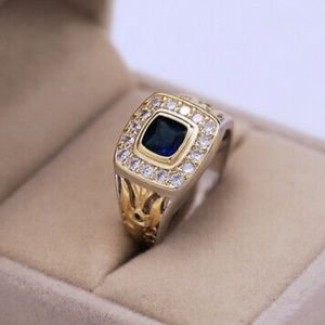 NEW 925 Sterling Silver Two tone ring